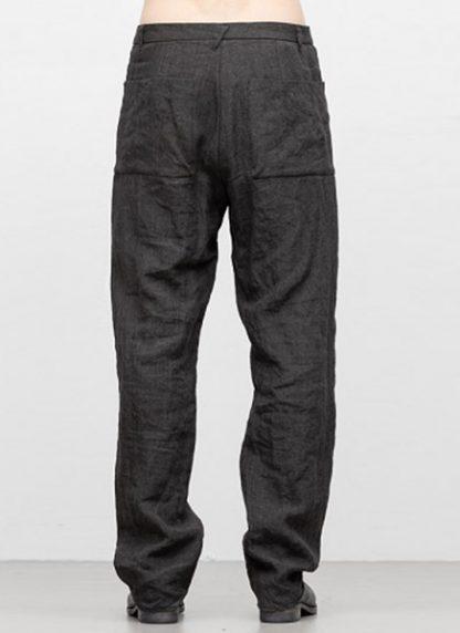 Individual Sentiments men box pocket pants ss18 dark grey linen hide m 4