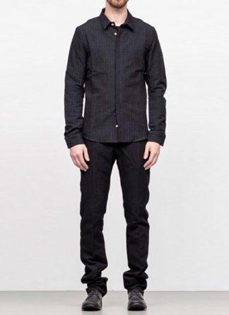 Individual Sentiments men classic basic button down shirt sh21 cli21 linen cotton wo ry ny black fw18 hide m 2