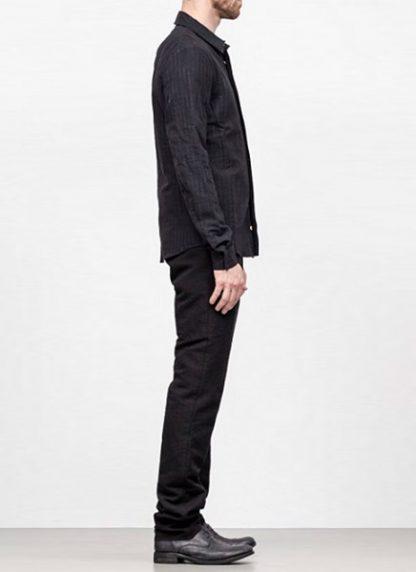 Individual Sentiments men classic basic button down shirt sh21 cli21 linen cotton wo ry ny black fw18 hide m 3