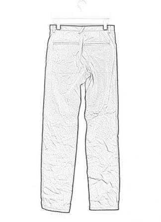 Individual Sentiments men flap pocket pants ss18 black washi paper cotton hide m 1