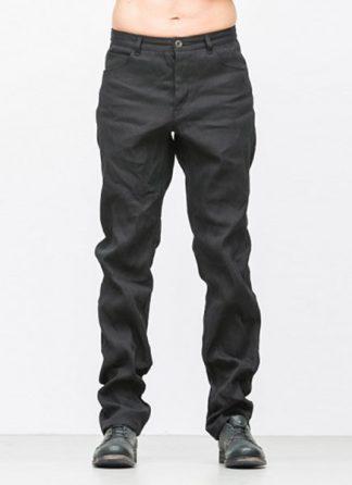 Individual Sentiments men flap pocket pants ss18 black washi paper cotton hide m 2