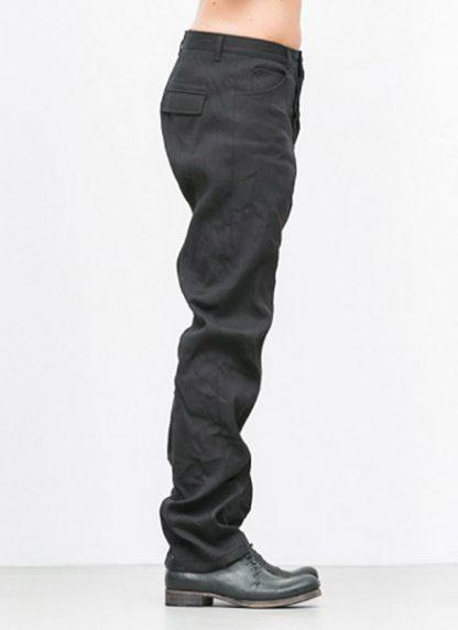 Individual Sentiments men flap pocket pants ss18 black washi paper cotton hide m 3