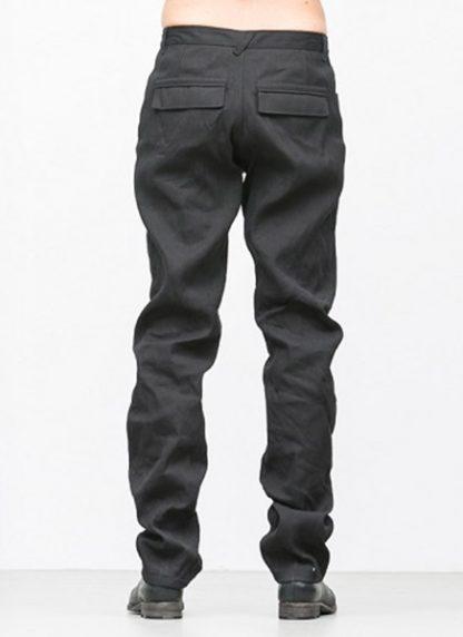 Individual Sentiments men flap pocket pants ss18 black washi paper cotton hide m 4