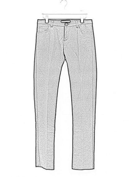 Individual Sentiments men slim pants TA2P CLI20 cotton linen black fw18 hide m 1