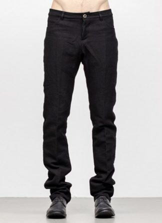 Individual Sentiments men slim pants TA2P CLI20 cotton linen black fw18 hide m 2