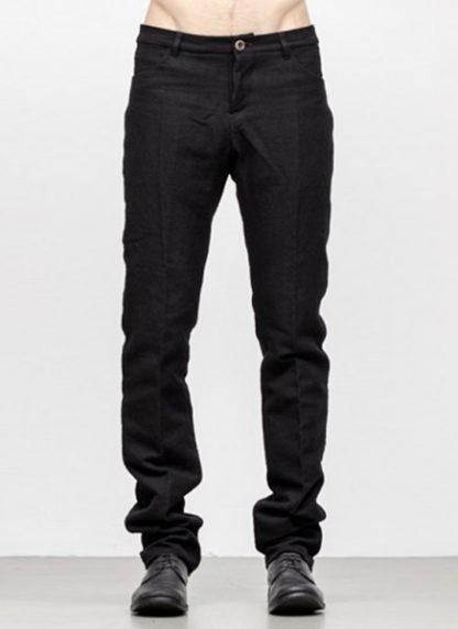 Individual Sentiments men slim pants TA2P CLI20 cotton linen black fw18 hide m 2