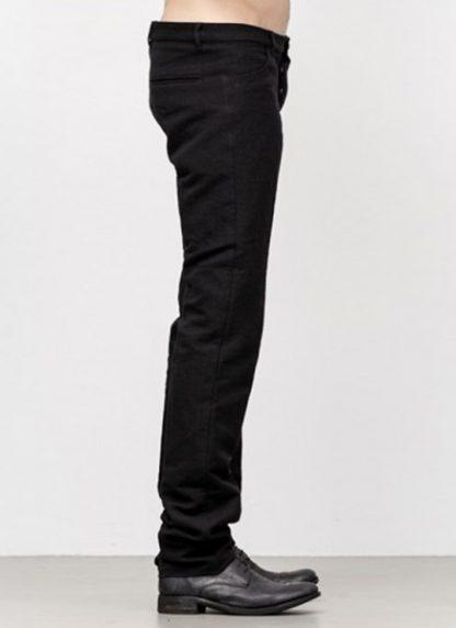 Individual Sentiments men slim pants TA2P CLI20 cotton linen black fw18 hide m 3