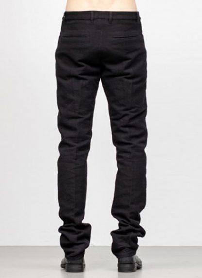 Individual Sentiments men slim pants TA2P CLI20 cotton linen black fw18 hide m 4