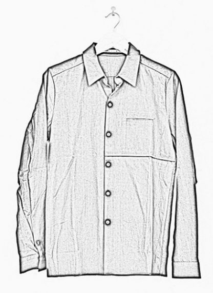 Individual Sentiments one pocket shirt black cotton ss17 hide m 1