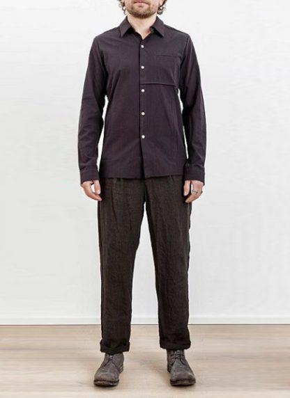 Individual Sentiments one pocket shirt black cotton ss17 hide m 2