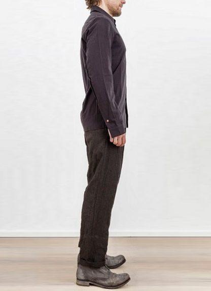 Individual Sentiments one pocket shirt black cotton ss17 hide m 3