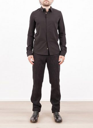 Individual Sentiments shirt fw1617 woven basic shirt cotton black hide m 2