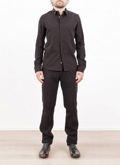 Individual Sentiments shirt fw1617 woven basic shirt cotton black hide m 2