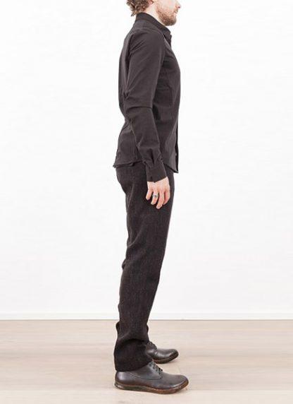 Individual Sentiments shirt fw1617 woven basic shirt cotton black hide m 3