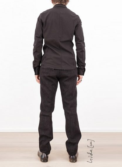 Individual Sentiments shirt fw1617 woven basic shirt cotton black hide m 4