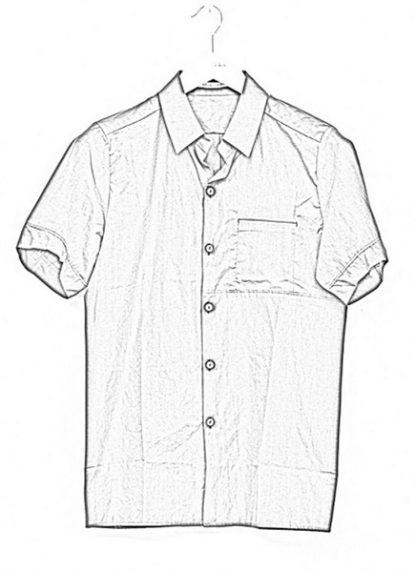 Individual Sentiments short sleeve shirt ss18 black cotton hide m 1