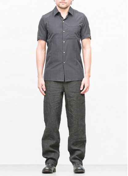 Individual Sentiments short sleeve shirt ss18 black cotton hide m 2