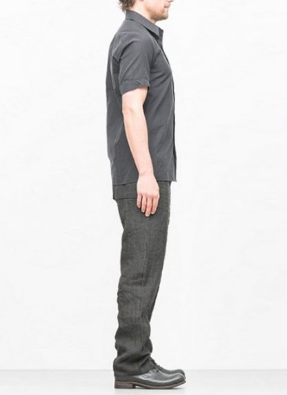 Individual Sentiments short sleeve shirt ss18 black cotton hide m 3