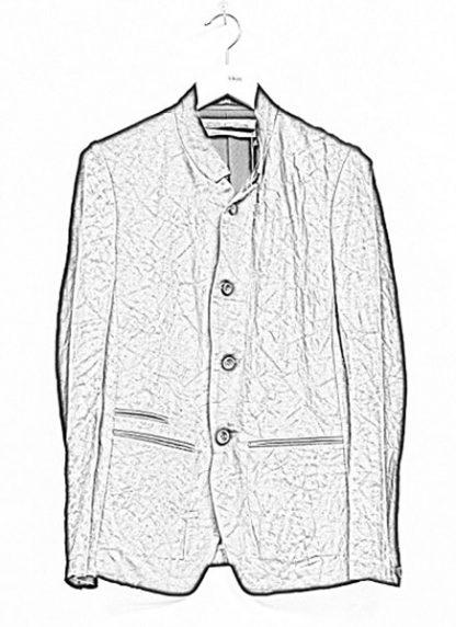 Individual Sentiments ss19 men button down blazer jacket rayon linen black hide m 1
