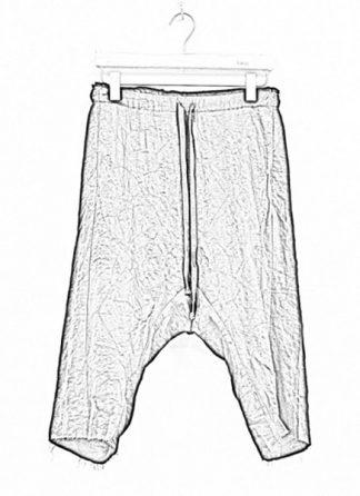 Individual Sentiments ss19 men easy short pants rayon linen black hide m 1