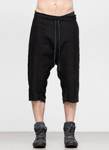 Individual Sentiments ss19 men easy short pants rayon linen black hide m 2