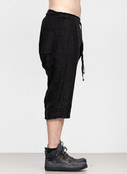 Individual Sentiments ss19 men easy short pants rayon linen black hide m 3