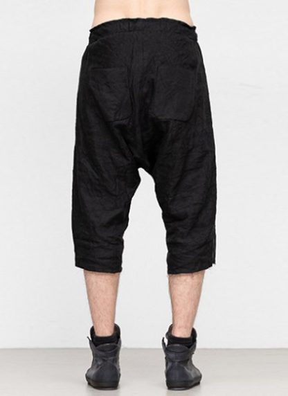 Individual Sentiments ss19 men easy short pants rayon linen black hide m 4