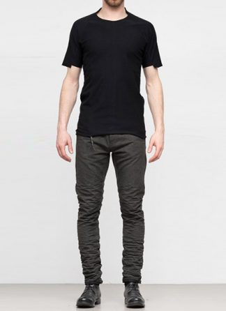 Individual Sentiments ss19 men solid tshirt cotton black hide m 2