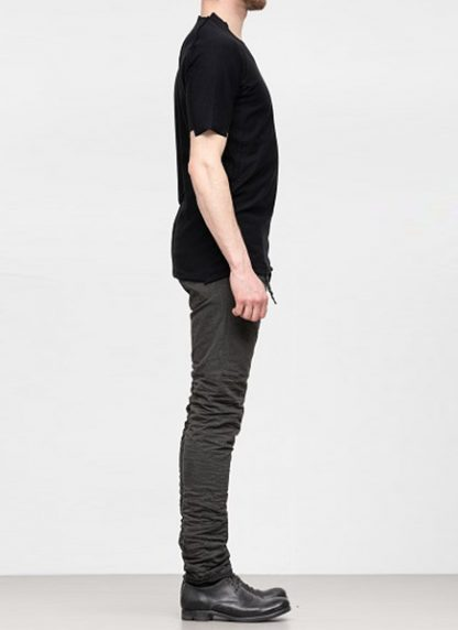 Individual Sentiments ss19 men solid tshirt cotton black hide m 3