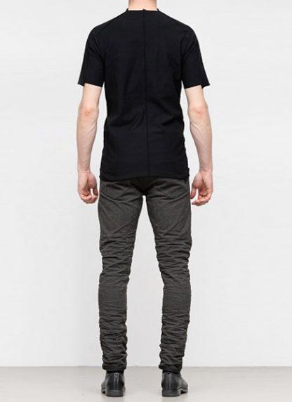 Individual Sentiments ss19 men solid tshirt cotton black hide m 4