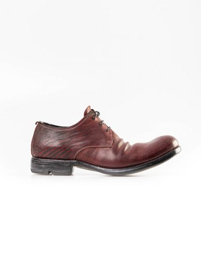LAYER 0 men derby shoe 1.5 h7 red black shell horse cordovan rev leather hide m 2