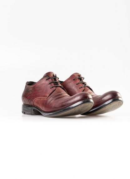 LAYER 0 men derby shoe 1.5 h7 red black shell horse cordovan rev leather hide m 3