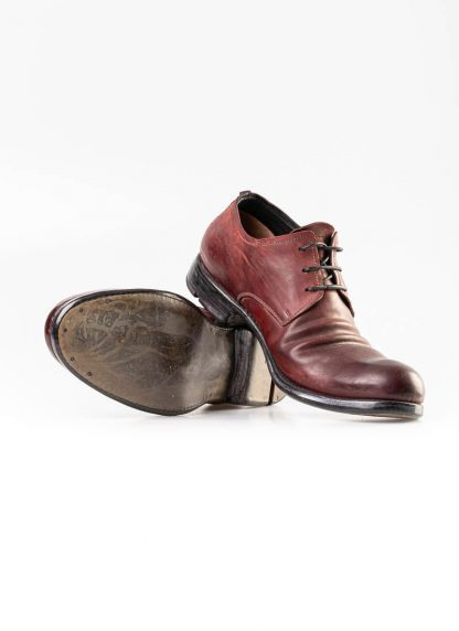 LAYER 0 men derby shoe 1.5 h7 red black shell horse cordovan rev leather hide m 4