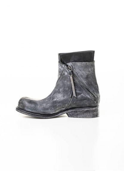 LEON EMANUEL BLANCK men distortion zip boot herren stiefel dis ab 01 horse rev leather grey hide m 2