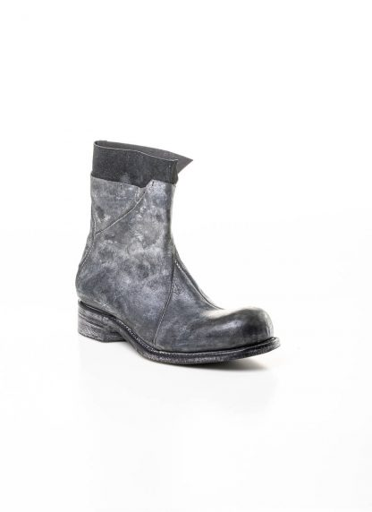 LEON EMANUEL BLANCK men distortion zip boot herren stiefel dis ab 01 horse rev leather grey hide m 4