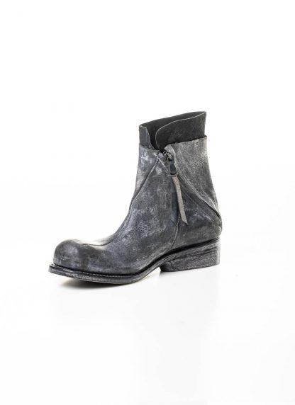 LEON EMANUEL BLANCK men distortion zip boot herren stiefel dis ab 01 horse rev leather grey hide m 5