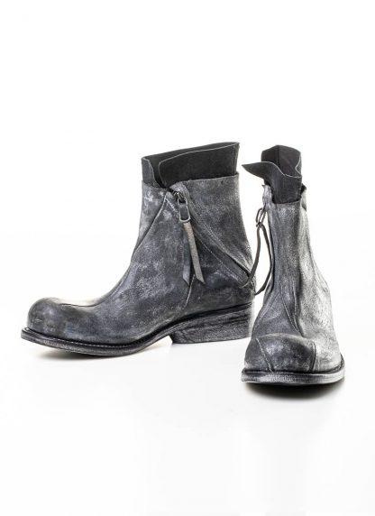 LEON EMANUEL BLANCK men distortion zip boot herren stiefel dis ab 01 horse rev leather grey hide m 6