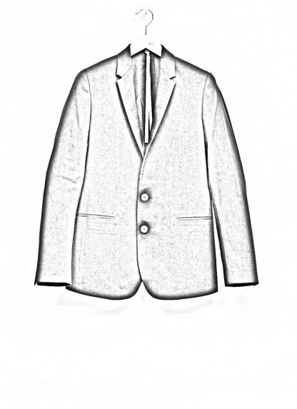 Label Under Construction men formal jacket herren blazer sakko jacke 31FMJC96 CC11B UN cotton acetat black hide m 1