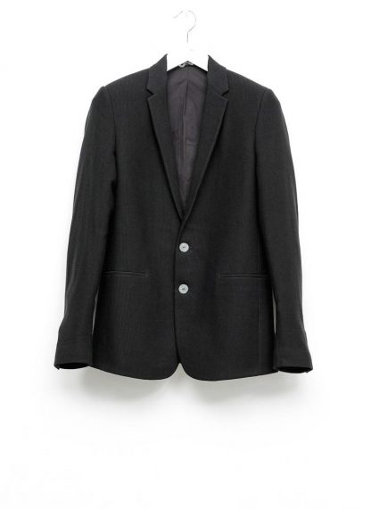 Label Under Construction men slim fit formal jacket herren blazer sakko jacke 31FMCJ97 CL 19B RG cotton linen silk stripes black hide m 2