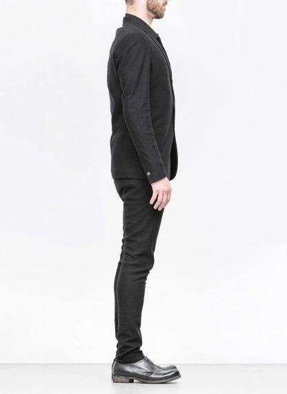 Label Under Construction men slim fit formal jacket herren blazer sakko jacke 31FMCJ97 CL 19B RG cotton linen silk stripes black hide m 4