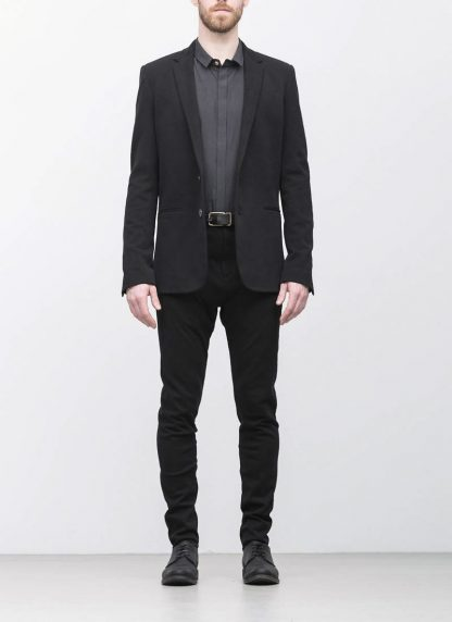 Label Under Construction men slim fit formal jacket herren blazer sakko jacke 31FMJC97 CO201B RG cotton black hide m 4