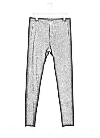 Label Under Construction men slim fit one cut pants herren hose 31FMPN86 CL 19A RG cotton linen silk stripes black hide m 1