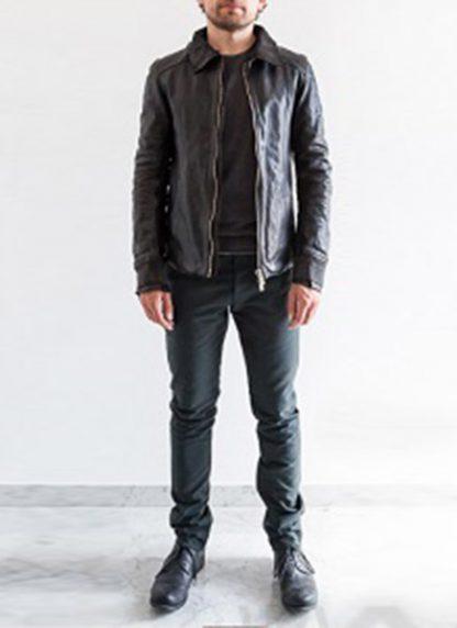 Layer 0 For Guidi avm black leather jacket soft horse full grain hide m 4