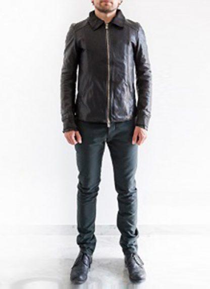 Layer 0 For Guidi avm black leather jacket soft horse full grain hide m 5