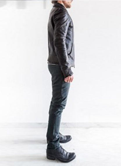 Layer 0 For Guidi avm black leather jacket soft horse full grain hide m 6
