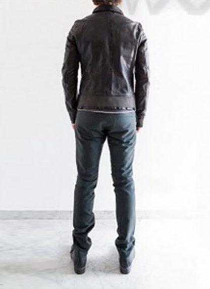 Layer 0 For Guidi avm black leather jacket soft horse full grain hide m 7
