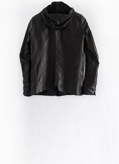 Layer 0 For Guidi cbm black leather hoodie hoody jacket soft horse full grain hide m 3