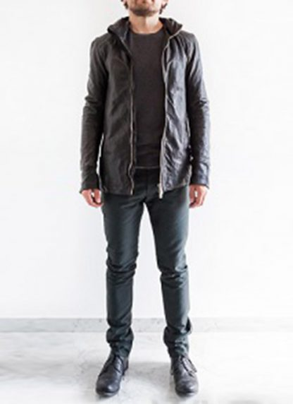 Layer 0 For Guidi cbm black leather hoodie hoody jacket soft horse full grain hide m 4