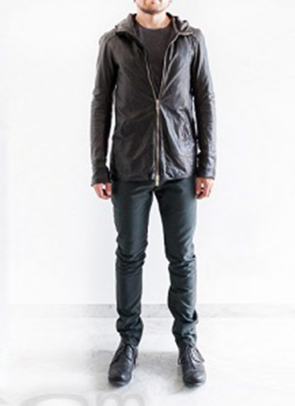 Layer 0 For Guidi cbm black leather hoodie hoody jacket soft horse full grain hide m 5