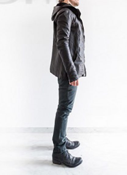 Layer 0 For Guidi cbm black leather hoodie hoody jacket soft horse full grain hide m 6